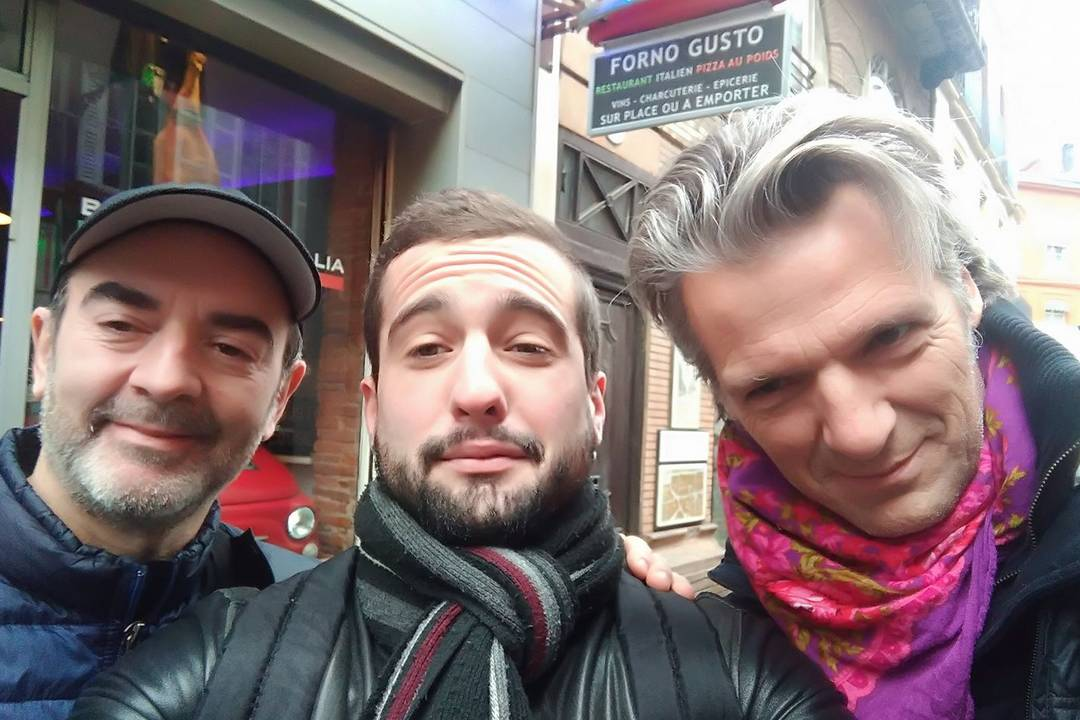 Avec Bruno Solo et Yvan Le bolloc'h